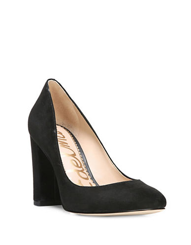 Sam Edelman Stillson Velvet Pumps-BLACK SUEDE-6.5