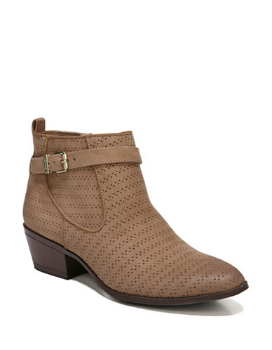 Circus By Sam Edelman Pheonix Block Heel Booties-BROWN-5