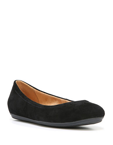 Naturalizer Brittany Leather Ballet Flats-BLACK SUEDE-7.5