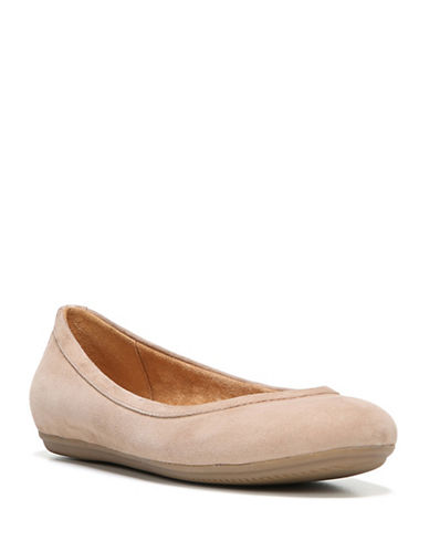 Naturalizer Brittany Leather Ballet Flats-OATMEAL-7W