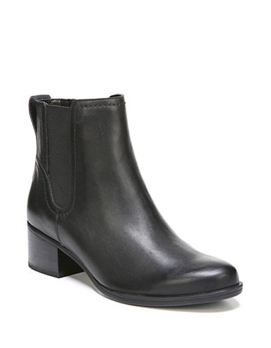 Naturalizer Dallas Leather Chelsea Boots-BLACK-8