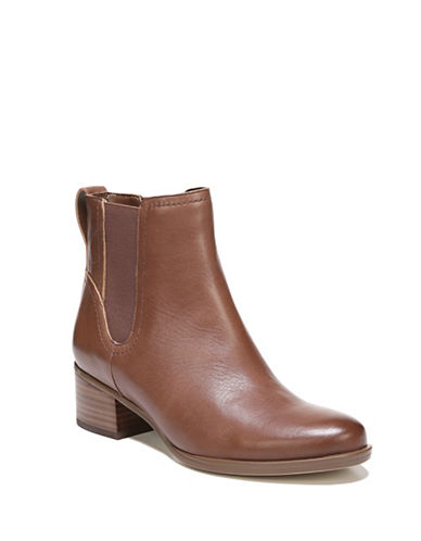 Naturalizer Dallas Leather Chelsea Boots-BROWN-9.5