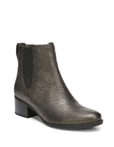 Naturalizer Dallas Leather Chelsea Boots-BRONZE-7.5