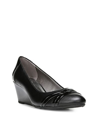 Lifestride Junia Wedge Pumps-BLACK PATENT-9.5