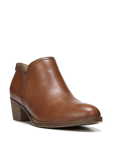 Naturalizer Zarie Leather Ankle Booties-SADDLE TAN-6.5