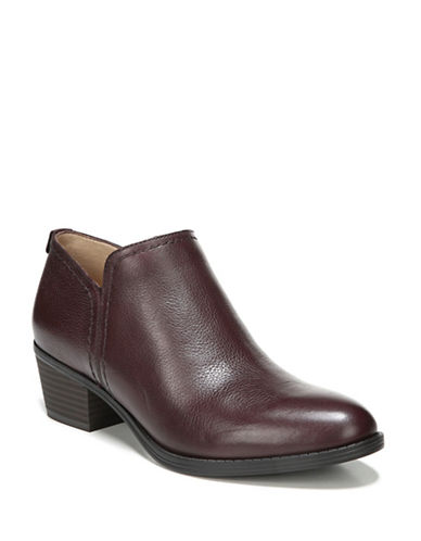 Naturalizer Zarie Leather Ankle Booties-AUBERGINE-6