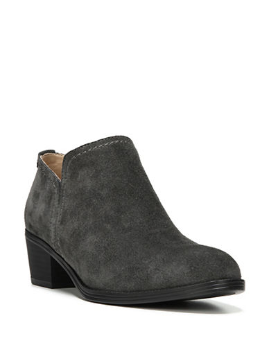 Naturalizer Zarie Leather Ankle Booties-GREY SUEDE-8.5