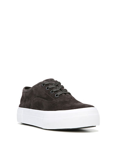 Vince Copley Leather Platform Sneakers-GREY-5