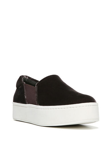 Vince Warren Velvet Slide Platform Sneakers-GREY-5.5