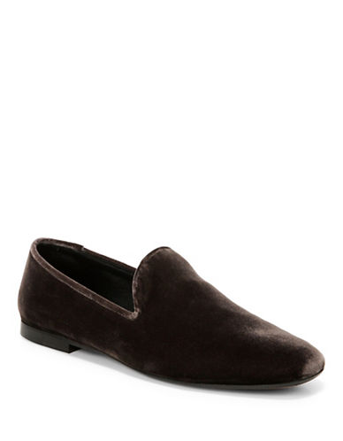 Vince Bray Textured Leather Loafers-GREY-11