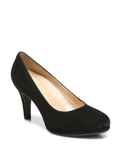 Naturalizer Michelle Round Toe Pumps-BLACK-9.5
