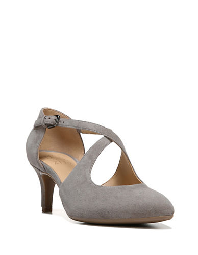 Naturalizer Okira Suede Dress Pumps-GREY SUEDE-5