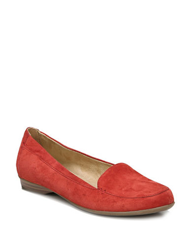 Naturalizer Saban Leather Loafers-RED-7.5