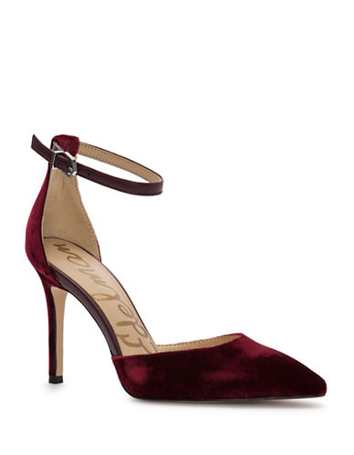 Sam Edelman Harlow Velvet Pumps-RED-8