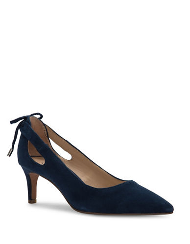 Franco Sarto Doe Pointed Toe Pumps-BLUE-6.5