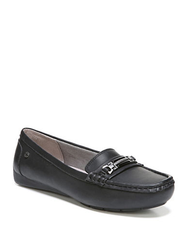 Lifestride Vanity Moccasin-Style Slip-on Shoes-BLACK SUEDE-8.5
