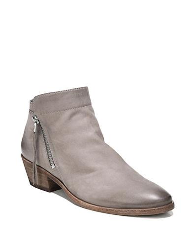 Sam Edelman Leather Western Boot-GREY-7