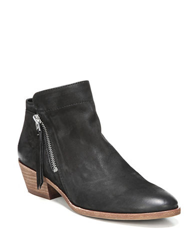 Sam Edelman Leather Western Boot-BLACK-9.5