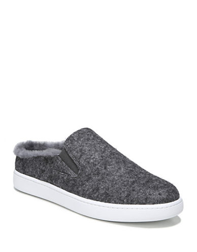 Vince Verrell-3 Shearling Felt Slip-On Sneakers-PEWTER-7.5