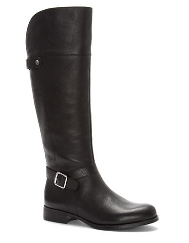Naturalizer Leather Riding Boot-BLACK-6.5W