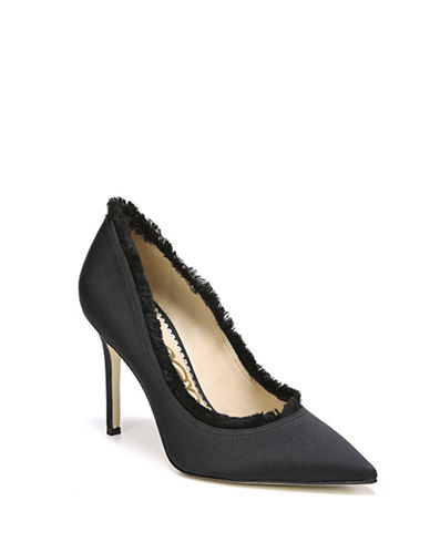 Sam Edelman Halan Satin Pumps-BLACK-8.5