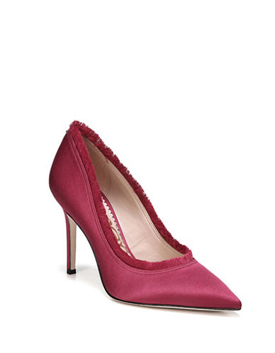 Sam Edelman Halan Satin Pumps-RED-8.5