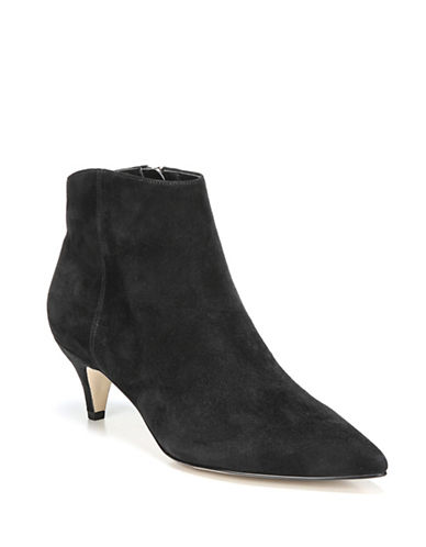 Sam Edelman Exotic Suede Booties-BLACK-8