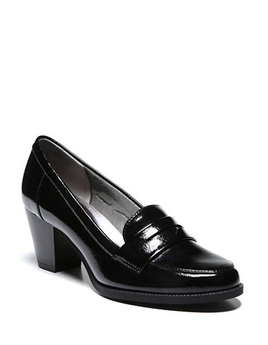 Lifestride Stacked Heel Pumps-BLACK-6.5