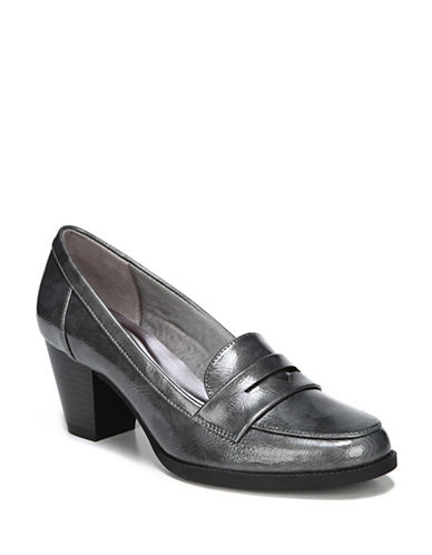 Lifestride Stacked Heel Pumps-PEWTER-6.5