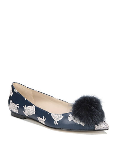Sam Edelman Raddie Leather Ballet Flats-NAVY-7