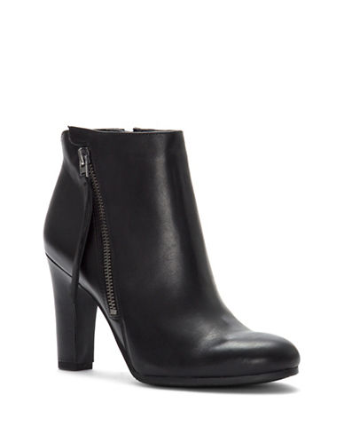 Sam Edelman Sadie Block Heel Leather Booties-BLACK-9.5