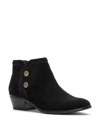 Sam Edelman Pacer Suede Booties-BLACK-7.5