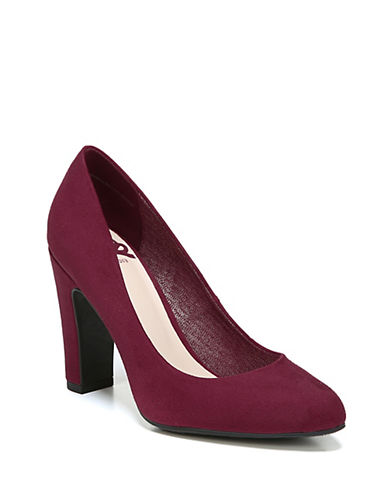 Fergalicious Selena Block-Heel Pumps-RED-9.5