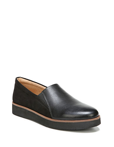 Naturalizer Textured Platform Loafers-BLACK-5