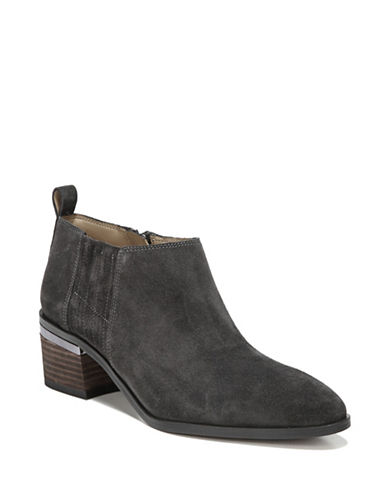 Franco Sarto Aberdale Point Toe Suede Booties-GREY-9.5