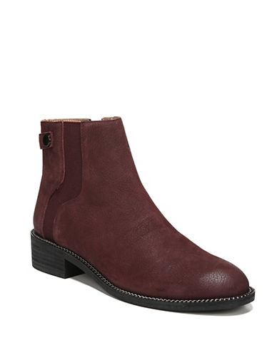 Franco Sarto Brandy Leather Booties-BURGUNDY-10