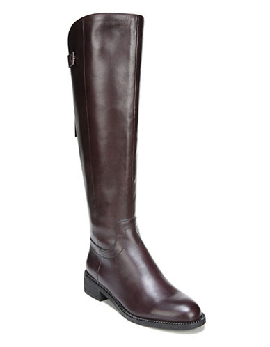Franco Sarto Brindley Leather Riding Boots-BURGUNDY-9.5
