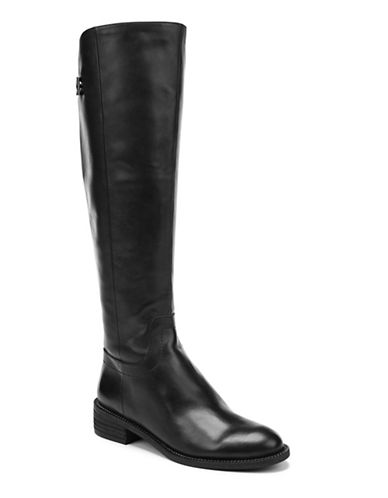 Franco Sarto Brindley Leather Riding Boots-BLACK-9.5