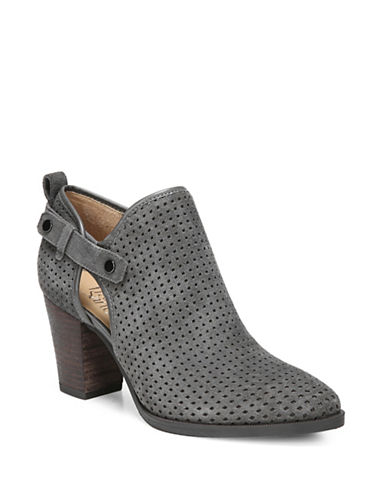 Franco Sarto Dakota Perforated Booties-CHARCOAL-9.5