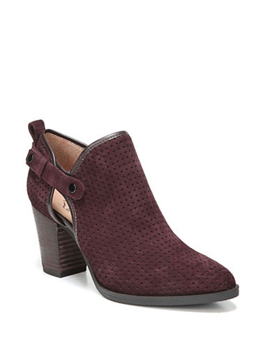Franco Sarto Dakota Perforated Booties-AUBERGINE-7