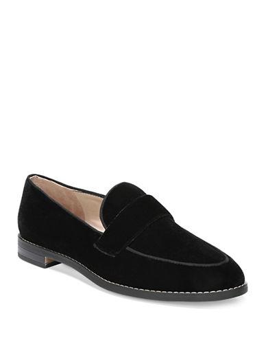 Franco Sarto Hudley Velvet Loafers-BLACK VELVET-7.5