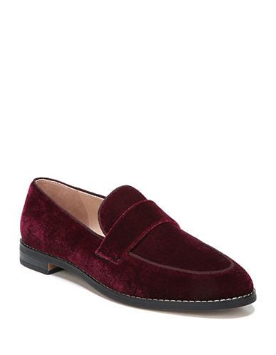 Franco Sarto Hudley Velvet Loafers-BORDEAUX-9.5