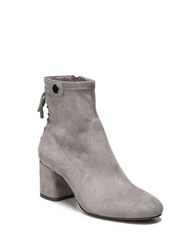 Franco Sarto Josey Microsuede Botties-GREY-9.5