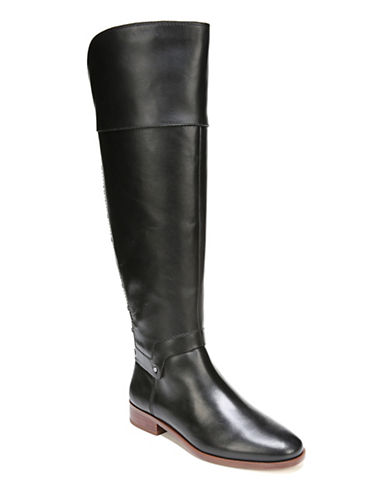 Franco Sarto Roxanna Leather Knee-High Boots-BLACK-6
