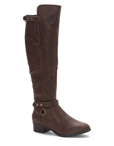 Fergalicious Joplin Over-The-Knee Boots-BROWN-8.5