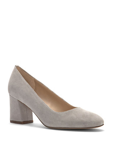 Franco Sarto Sidney Closed Toe Pumps-GREY-5.5