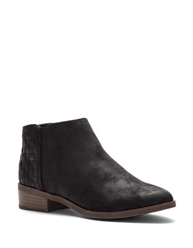 Fergalicious Noble Stacked Heel Booties-BLACK-6.5