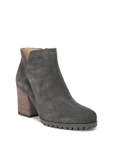 Franco Sarto Maysen Leather Booties-GREY-9.5