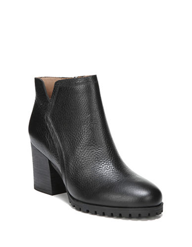 Franco Sarto Maysen Leather Booties-BLACK-9