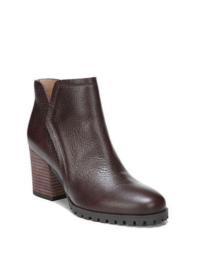 Franco Sarto Maysen Leather Booties-BURGUNDY-8